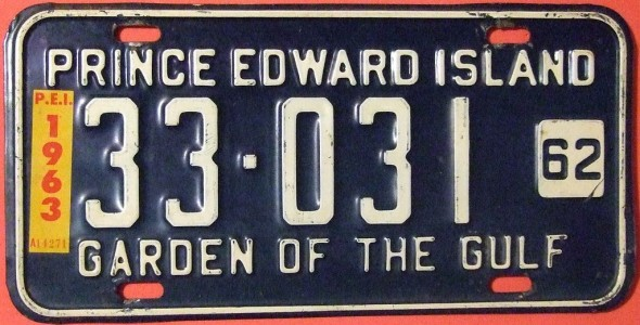 "By Jerry ""Woody"" from Edmonton, Canada (PRINCE EDWARD ISLAND 1963 ---LICENSE PLATE) [CC-BY-SA-2.0 (http://creativecommons.org/licenses/by-sa/2.0)], via Wikimedia Commons"
